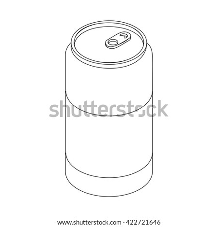 Beer can icon, isometric 3d style - stock photo