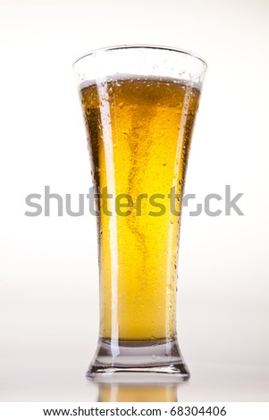 Beer collection, glass in studio - stock photo