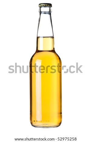 Beer collection - Lager beer bottle. Isolated on white background - stock photo