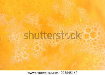 Beer foam texture close up - stock photo