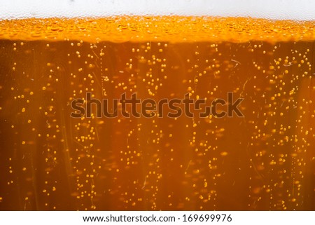 Beer gas bubbles - stock photo