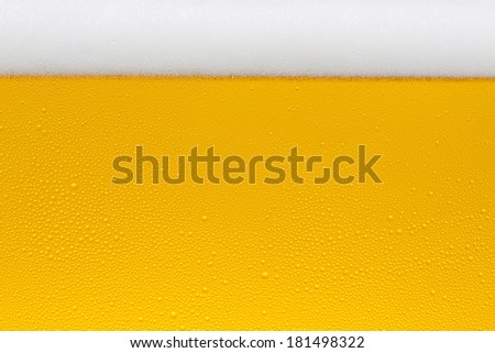 Beer glas with form and condensation drops
