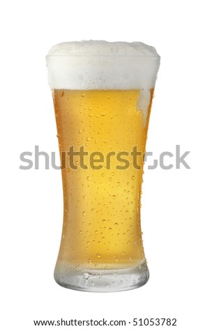 Beer Glass dripping - stock photo