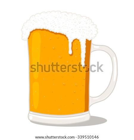 Beer glass illustration - stock photo