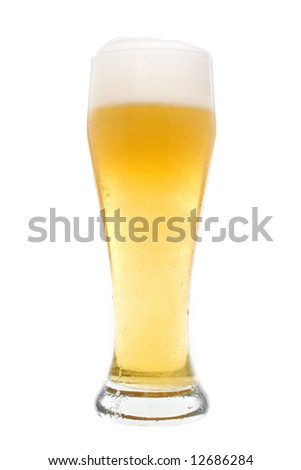 Beer in a pilsner glass - stock photo