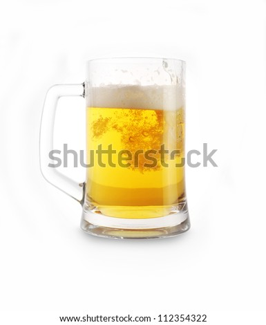 beer in glass close up