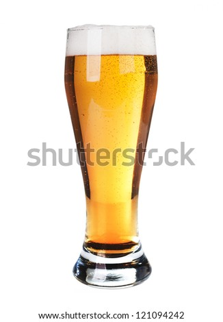 Beer isolated - stock photo