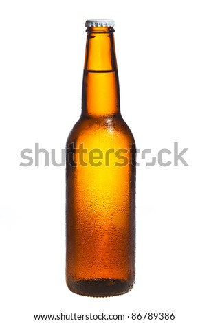 Beer isolated on white - stock photo