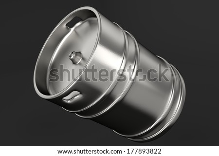 Beer keg over grey background - stock photo