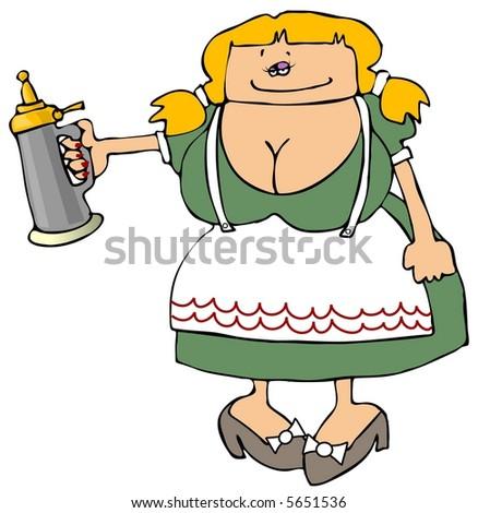 Beer Maiden - stock photo