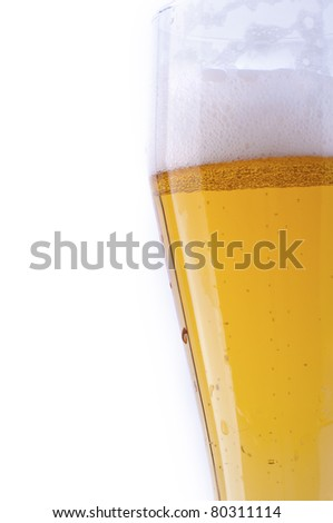 Beer mug isolated on white background