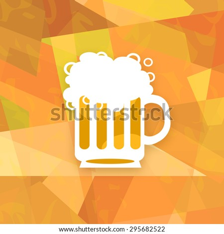 Beer mug on abstract background - stock photo