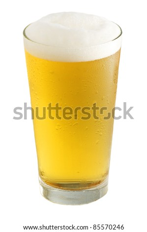 Beer-Objects on white background - stock photo