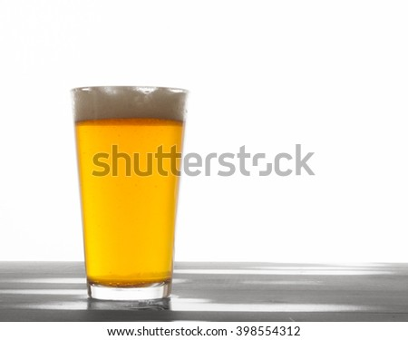 Beer on table