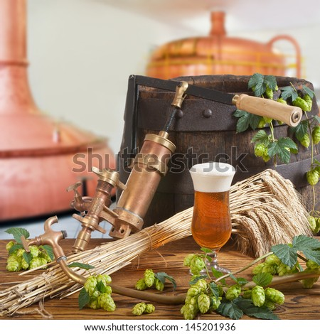 beer on tap - stock photo