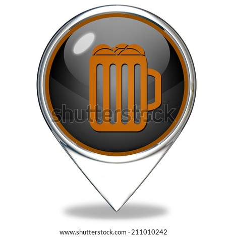 Beer pointer icon on white background