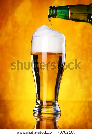 Beer pouring - stock photo