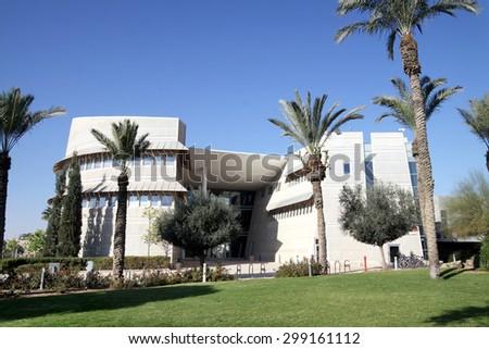 BEER SHEVA, ISRAEL - DECEMBER 29, 2012: Training housing Ben Gurion University in Beer Sheva - stock photo