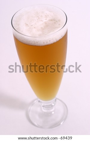 beer standing tall - stock photo