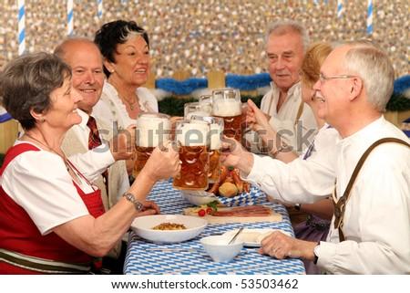 Beer tent - stock photo
