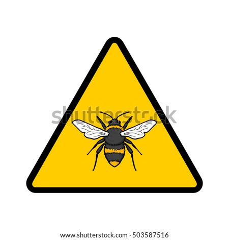 Bees warning sign; Caution beehive sign; Warning allergy to bees