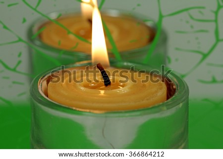 Beeswax, wax candle