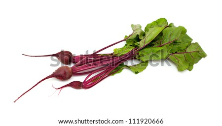 beet isolated on white - stock photo