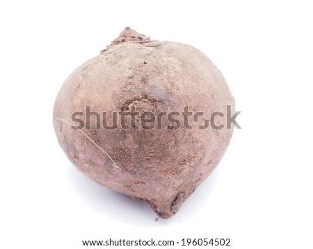 beet on white background - stock photo