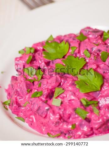 Beet salad - stock photo