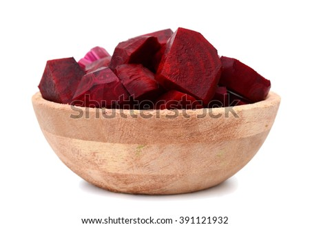 Beetroot (beet) chopped on bowl