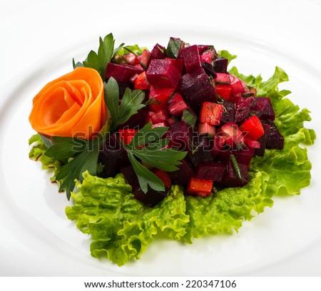 beetroot salad - stock photo