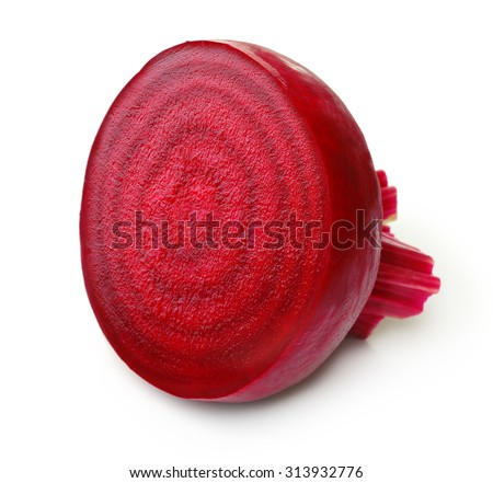 Beetroot with isolated on white background. - stock photo