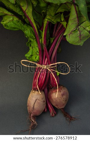 Beets full of nutrients, vitamins and minerals. The same health  - stock photo
