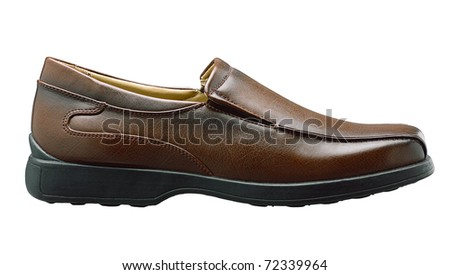 Begin your working day with elegant leather shoe to make you smart than anyone - stock photo