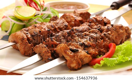 Behrai Kabab-5 - stock photo