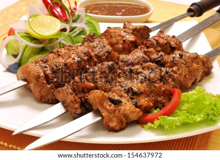 Behrai Kabab-1 - stock photo