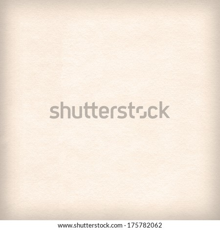 Beige background paper texture with delicate vignette, subtle background - stock photo