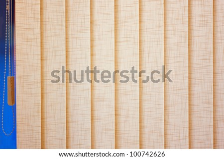 Beige blinds closed box - stock photo