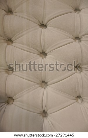 beige buttoned soft leather furniture pattern - stock photo