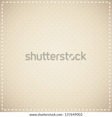 beige canvas texture - stock photo