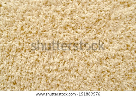 Beige carpet texture close up as background. Home interior decoration, top view