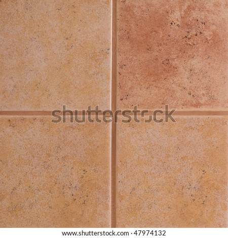 Beige ceramic tiles - stock photo