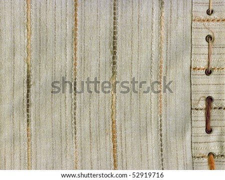 Beige cloth texture close up - stock photo