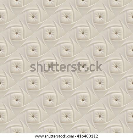 beige cream color sofa texture - stock photo