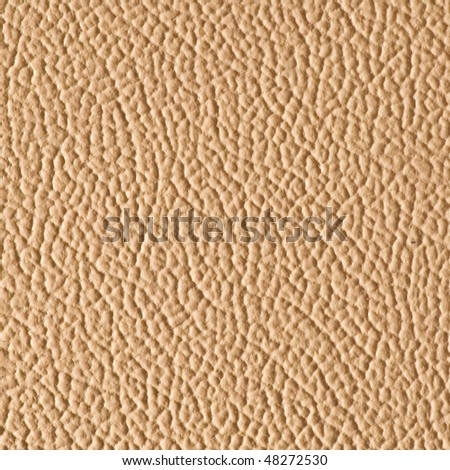 Beige imitation leather - stock photo