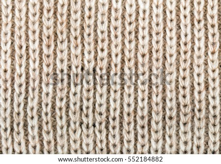 beige knitting wool texture background