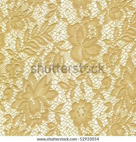 Beige lace on a white background - stock photo