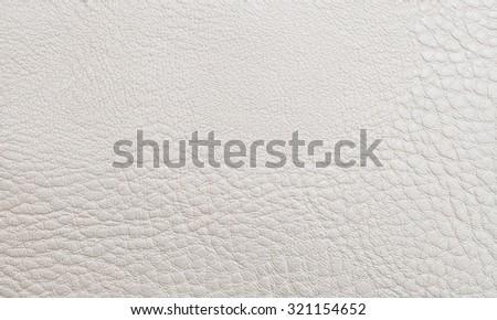 Beige leather texture - stock photo