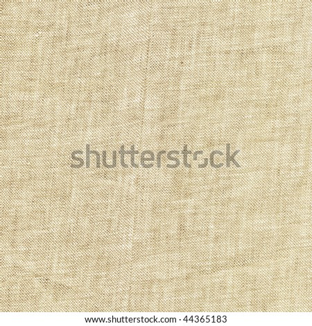 beige linen fabric texture in close-up - stock photo
