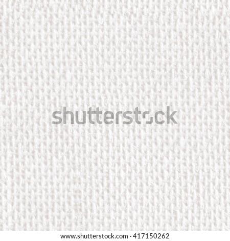 Beige linen. Seamless square texture. Tile ready. - stock photo